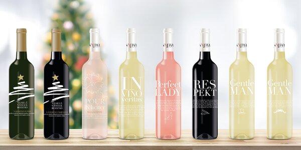 Dárková vína s přáním na etiketě