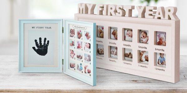 Fotorámečky pro miminka s barvou na otisky