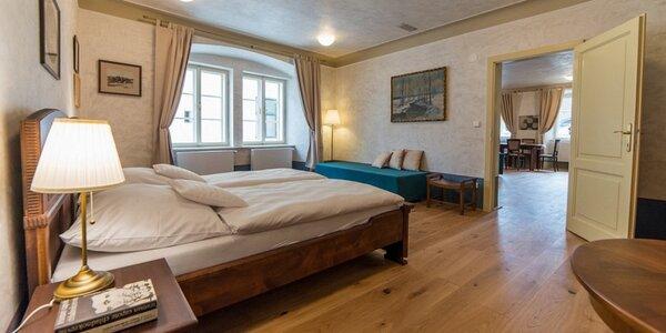 Zimní romantika v Krumlově: apartmán, snídaně