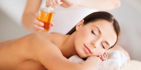 Hodinová olejová masáž uvolňující bedra, krk a záda