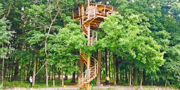 Noc v domku v korunách stromů až pro 3 osoby