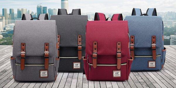 Trendy retro batoh ve čtyřech barvách