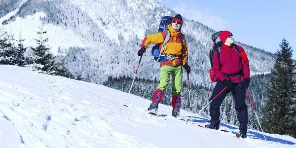 Zimní procházka na sněžnicích s průvodcem pro pár