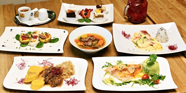 Lahodné a vyvážené degustační menu pro 2 osoby