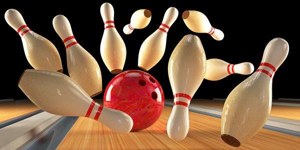 Dvě hodiny bowlingu v burgerovém baru