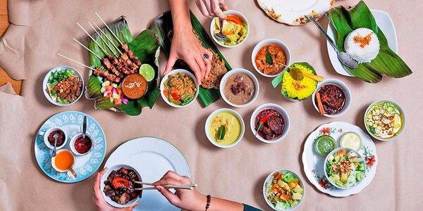 Všechny chutě Indonésie: degustační menu pro 2