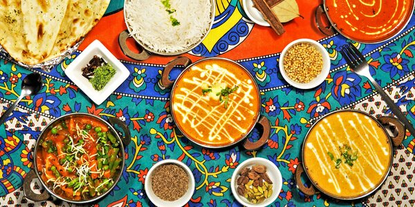 3chodové indické menu podle výběru pro 2 osoby