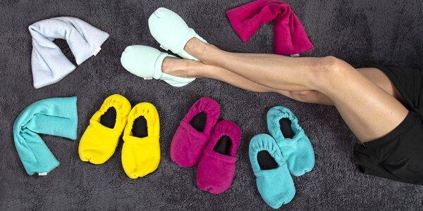 Nahřívací papuče nebo polštářky s levandulí