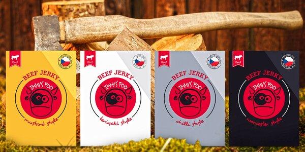 Sušené hovězí maso z Česka: různé příchutě