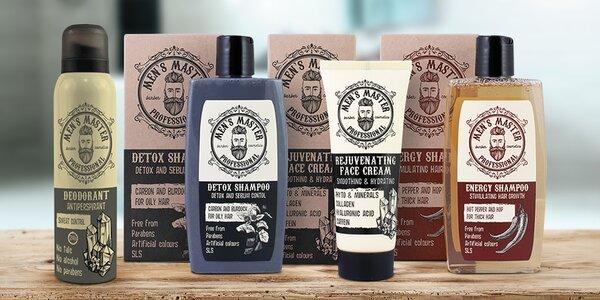 Pánské šampony, mýdlo, voda po holení i deodorant