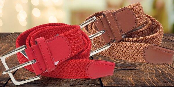 Pletené elastické pásky pro muže i ženy v červené, modré i bílé barvě