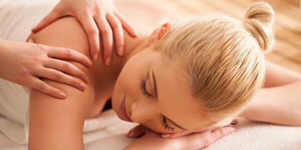 40minutová relaxační masáž zad a šíje pro ženy