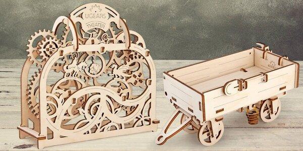 Dřevěné mechanické stavebnice - modely Ugears