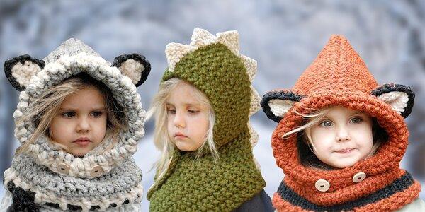 Zvířátkové čepičky: liška, kočka i dinosaurus