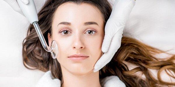 Ošetření aknózní pleti včetně darsonvalizace
