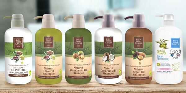 Tradiční turecké šampóny s přírodními oleji