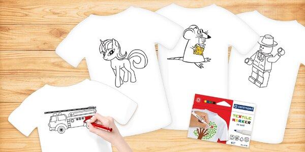 Fixy na textil a tričko s předtištěnými obrázky