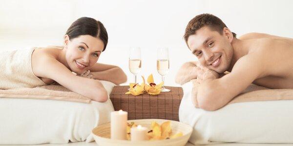 Romantická royal masáž se sektem pro dva
