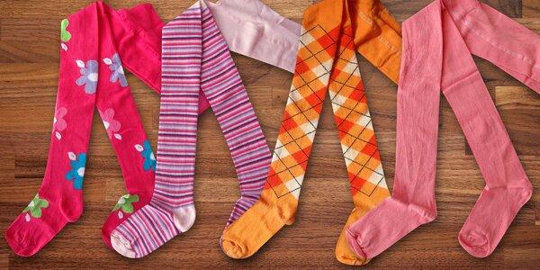 Dětské punčocháče: proužky, káry i kytičky