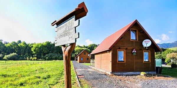 3 až 8 dní pod Tatrami: dřevěný srub s terasou