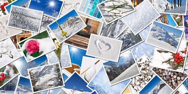 5 velkých fotografií vytištěných na profi fotopapíru