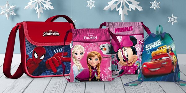 Dětské tašky a vaky s motivy Frozen, Cars aj.