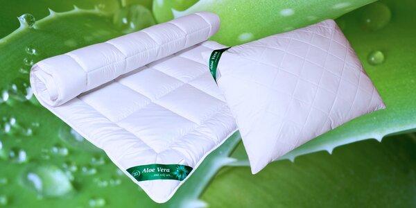 Celoroční přikrývky a polštáře s Aloe Vera