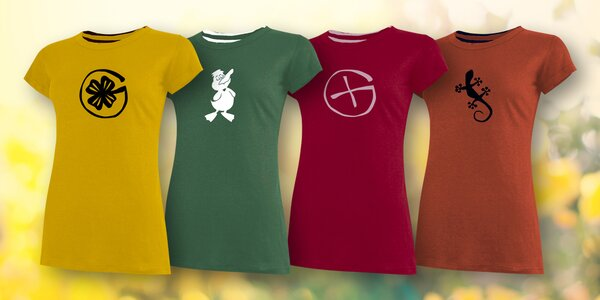 Kvalitní dámská trika ze 100% bavlny: 4 barvy