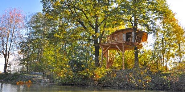 Treehouse pro 4 osoby na jarní či letní sezonu