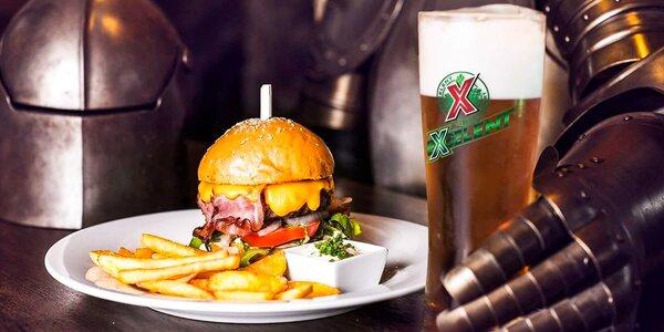 Burger pro 1 nebo 2 i s hranolky, salátem a pitím