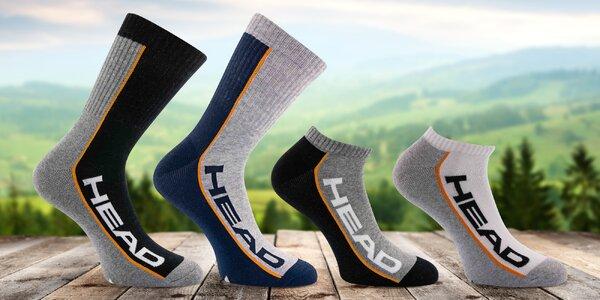 Unisexové ponožky Head s vysokým i nízkým kotníkem
