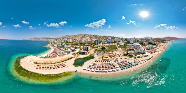 Albánie, Saranda: 7 nocí, hotel u pláže, snídaně