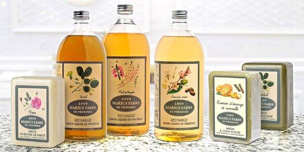 Tuhá i tekutá přírodní mýdla z Provence