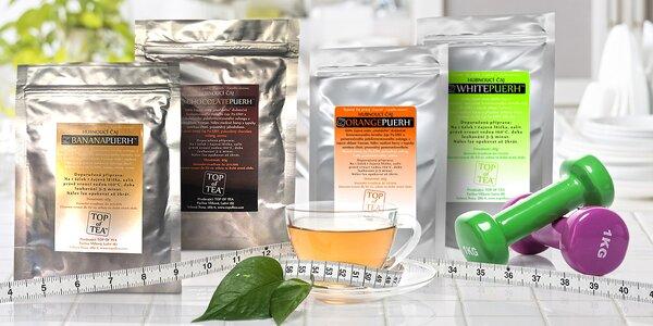 Čínské sypané čaje Pu-Erh na detoxikaci a hubnutí