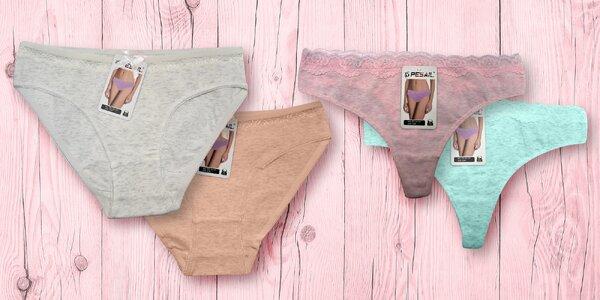 Dámské bavlněné kalhotky a tanga, různé barvy