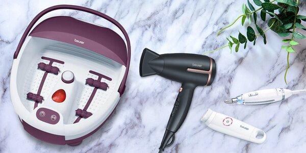 Fén, masážní přístroj na nohy i sada na manikúru