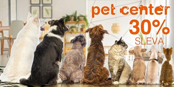 Sleva 30 % na nákup libovolné věci z Pet Center