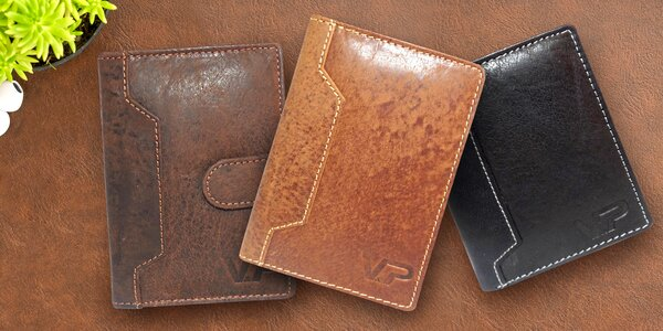 Pánské peněženky z pravé kůže na doklady 1f9f0db4f1