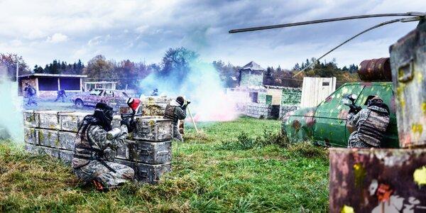 4 hodiny paintballu + až 150 ks munice a nápoj