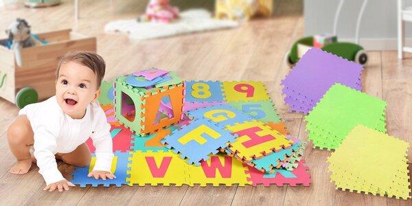 Dětské pěnové puzzle: jednobarevné i s čísly