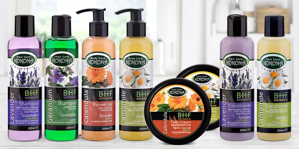 Šampony i hydratační krémy s levandulí i měsíčkem