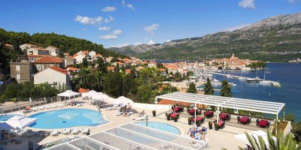 4* dovolená na Korčule s polopenzí a bazény