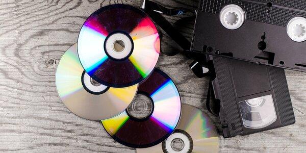 Převod 2 hodin záznamu z VHS kazety na DVD
