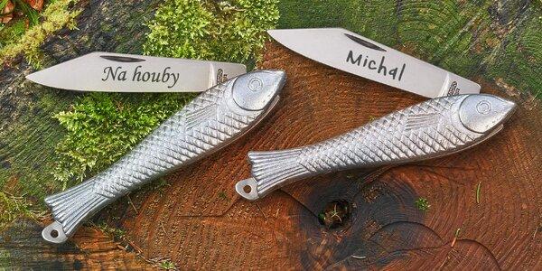 "Legendární nůž ""Rybička"" s vlastním textem"
