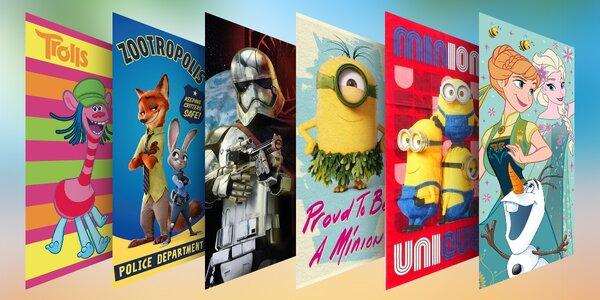 Bavlněné osušky pro děti i filmové fanoušky