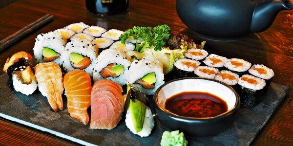 Sushi hody v centru Brna: 22, 25 nebo 48 kousků