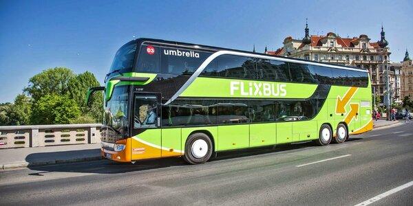 Sleva FlixBus: z ČR do Bratislavy, Košic, Trenčína