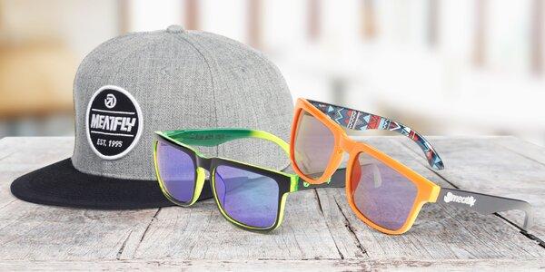 Kšiltovky a sluneční brýle značky Meatfly
