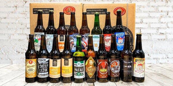 Degustační balíčky piv z českých minipivovarů