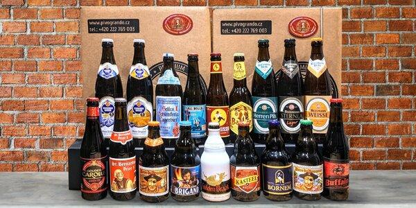 Degustační sety belgických a bavorských piv